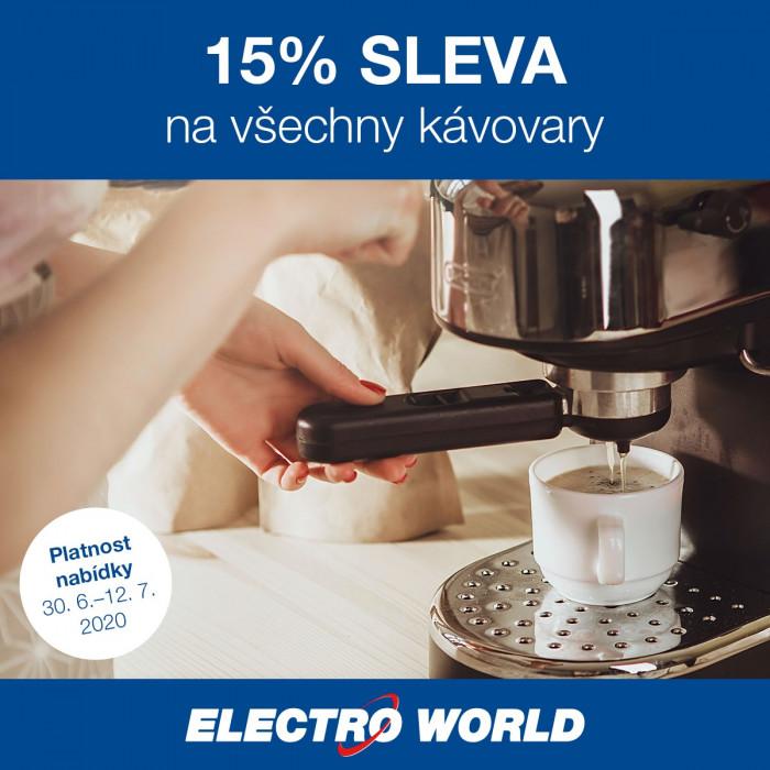 Kávovar s 15% slevou