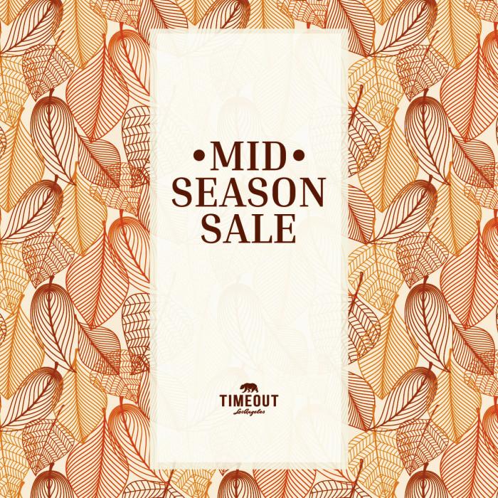 TIMEOUT Mid season sale