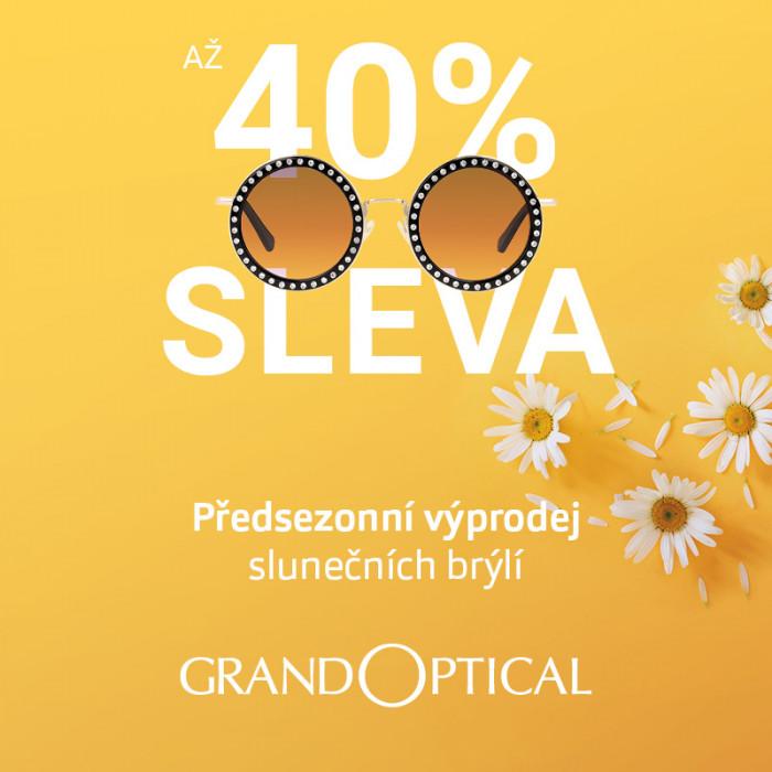 Předsezonní výprodej slunečních brýlí v GrandOptical!