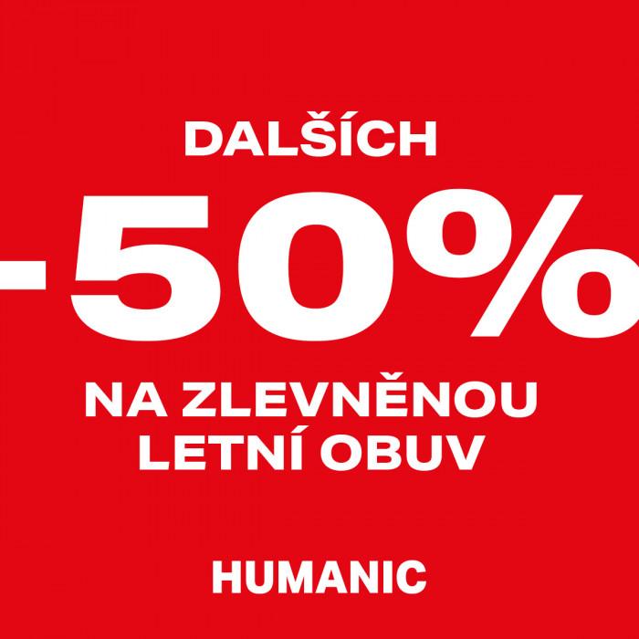 -50% na zlevněnou letní obuv